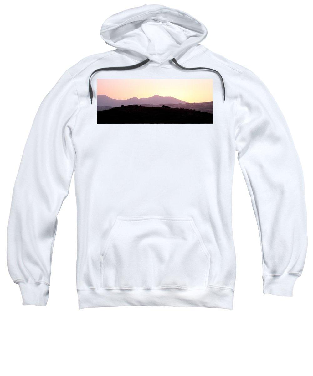 Spain Sweatshirt featuring the photograph Sunset Over The Andalucian Mountains Near Villanueva De La Concepcion by Mal Bray