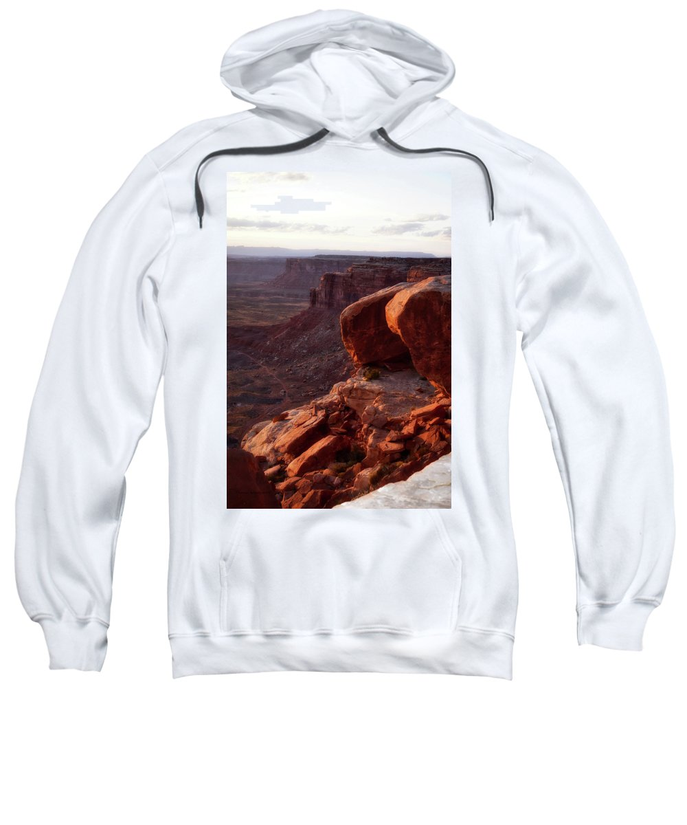 Valley Of The Gods Sweatshirt featuring the photograph Sunset Tour Valley Of The Gods Utah Vertical 01 by Thomas Woolworth