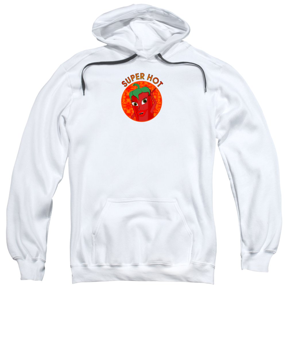 Cartoon Sweatshirt featuring the digital art Super Hot Pepper Diva by Ricardo Almeida