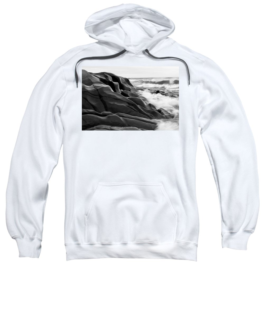 Lake Superior Sweatshirt featuring the photograph Superior Edge    by Doug Gibbons