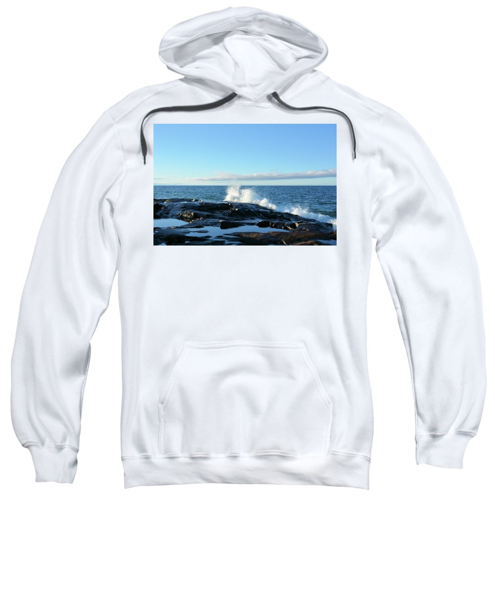 Lake Sweatshirt featuring the photograph Superior Pools by Bonfire Photography