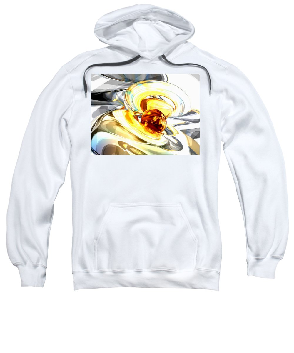 3d Sweatshirt featuring the digital art Supernova Abstract by Alexander Butler