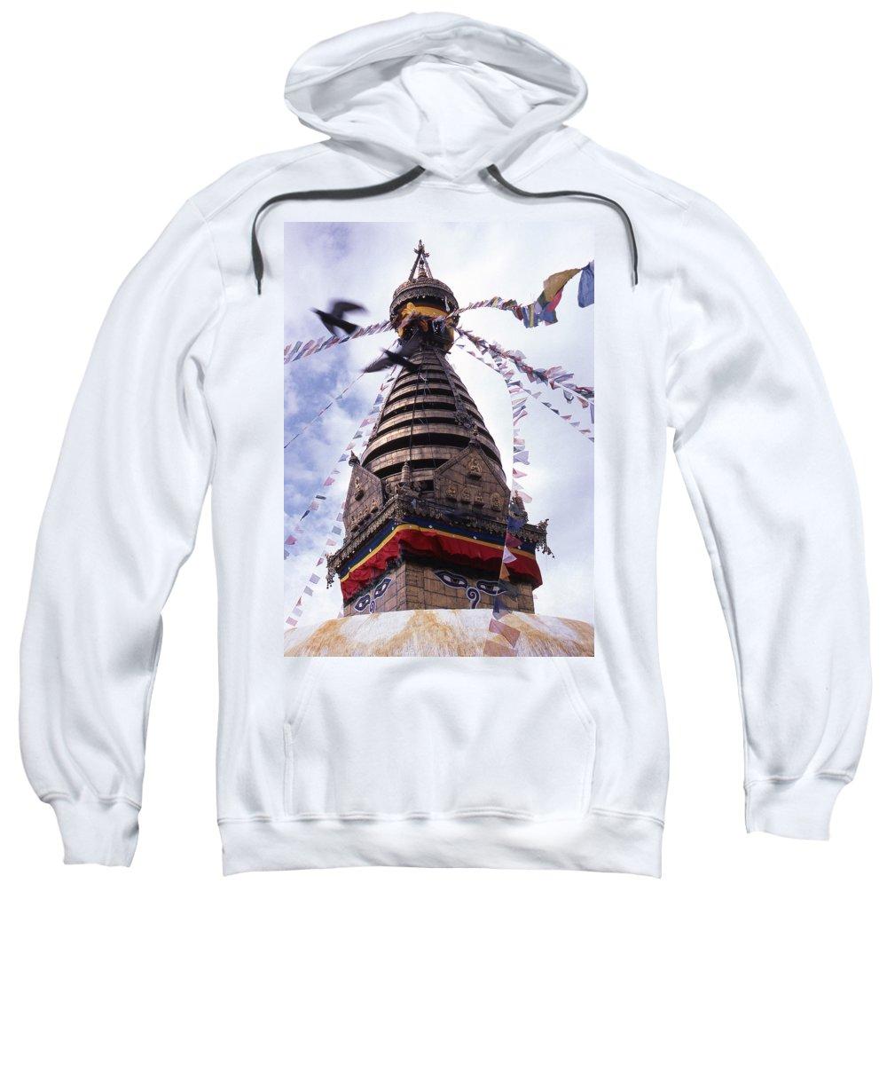 Swayambhunath Sweatshirt featuring the photograph Swayambhunath by Patrick Klauss