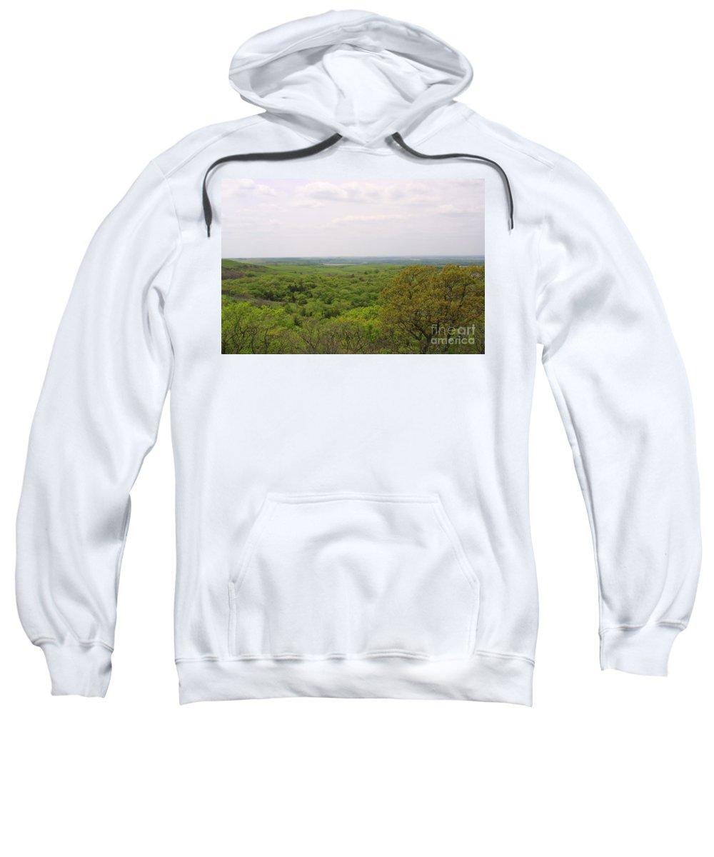 Highland Productions Llc Sweatshirt featuring the photograph Sweeping Vista by Darren Dwayne Frazier