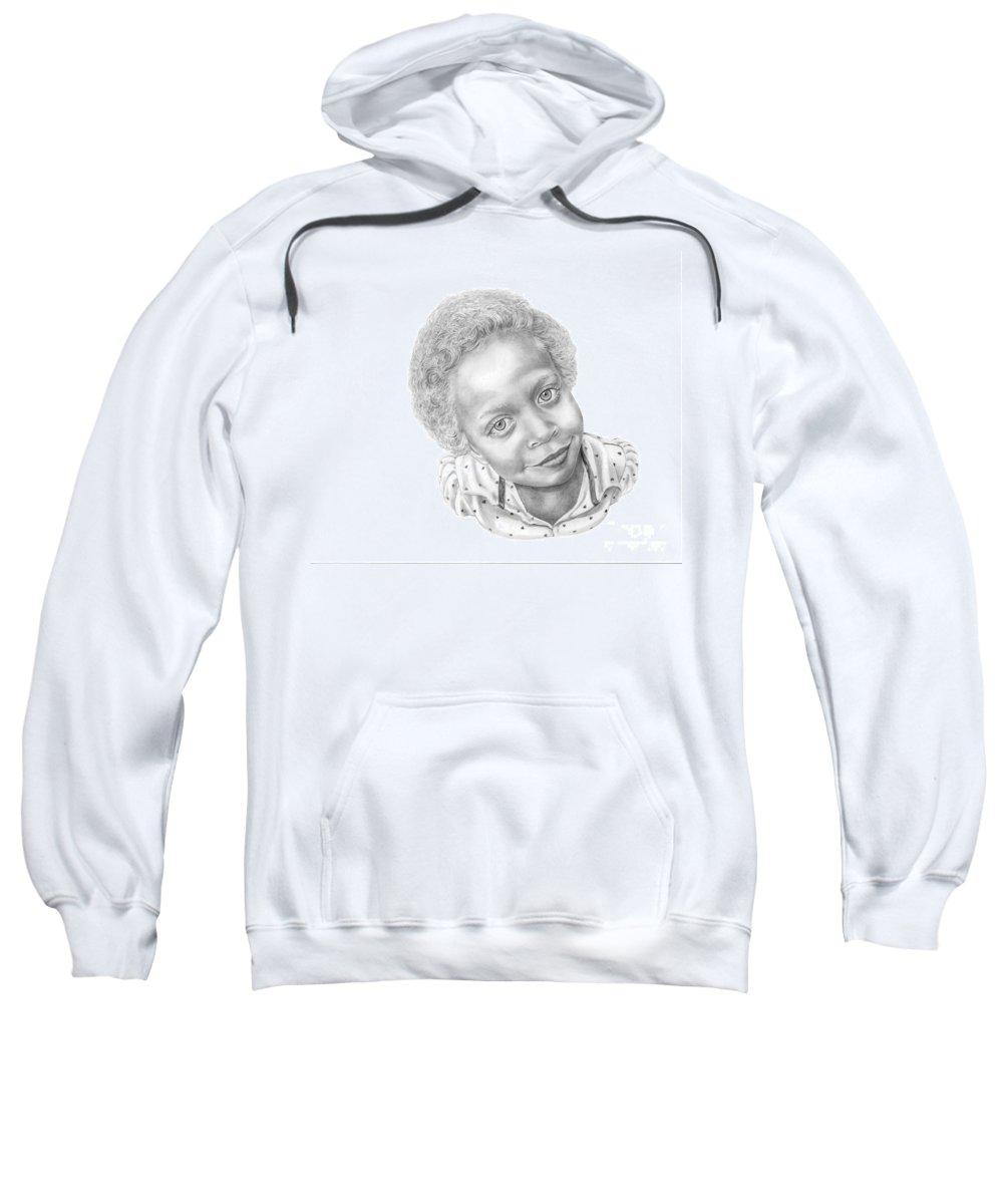 Portrait Sweatshirt featuring the drawing Sweet Eyes by Murphy Elliott