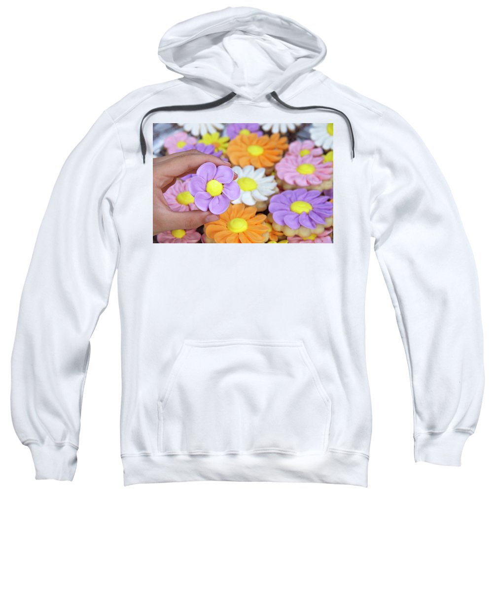 Adorable Sweatshirt featuring the photograph Sweet Floral Array by Sheila Fitzgerald