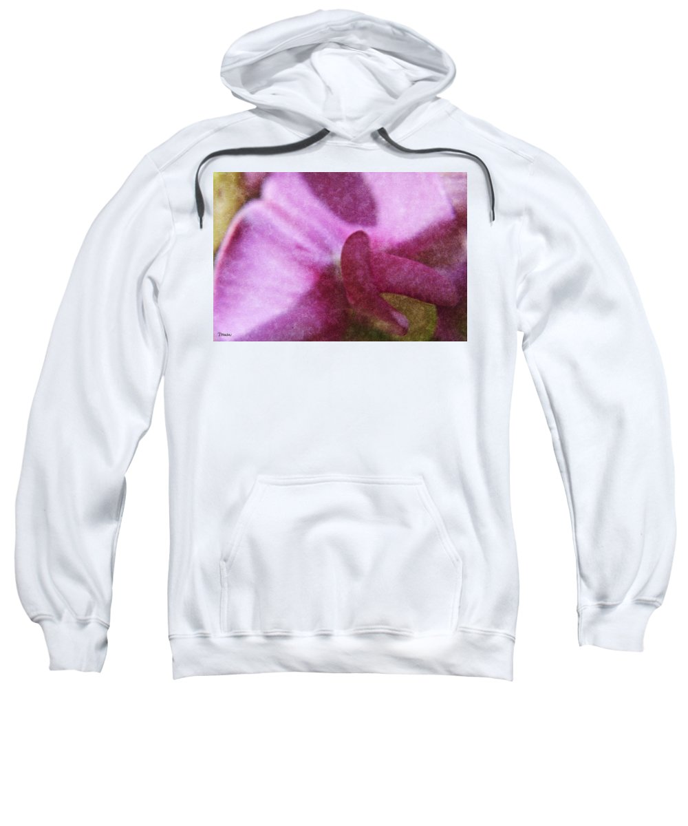 Sweet Sweatshirt featuring the digital art Sweet Pea by Teresa Mucha