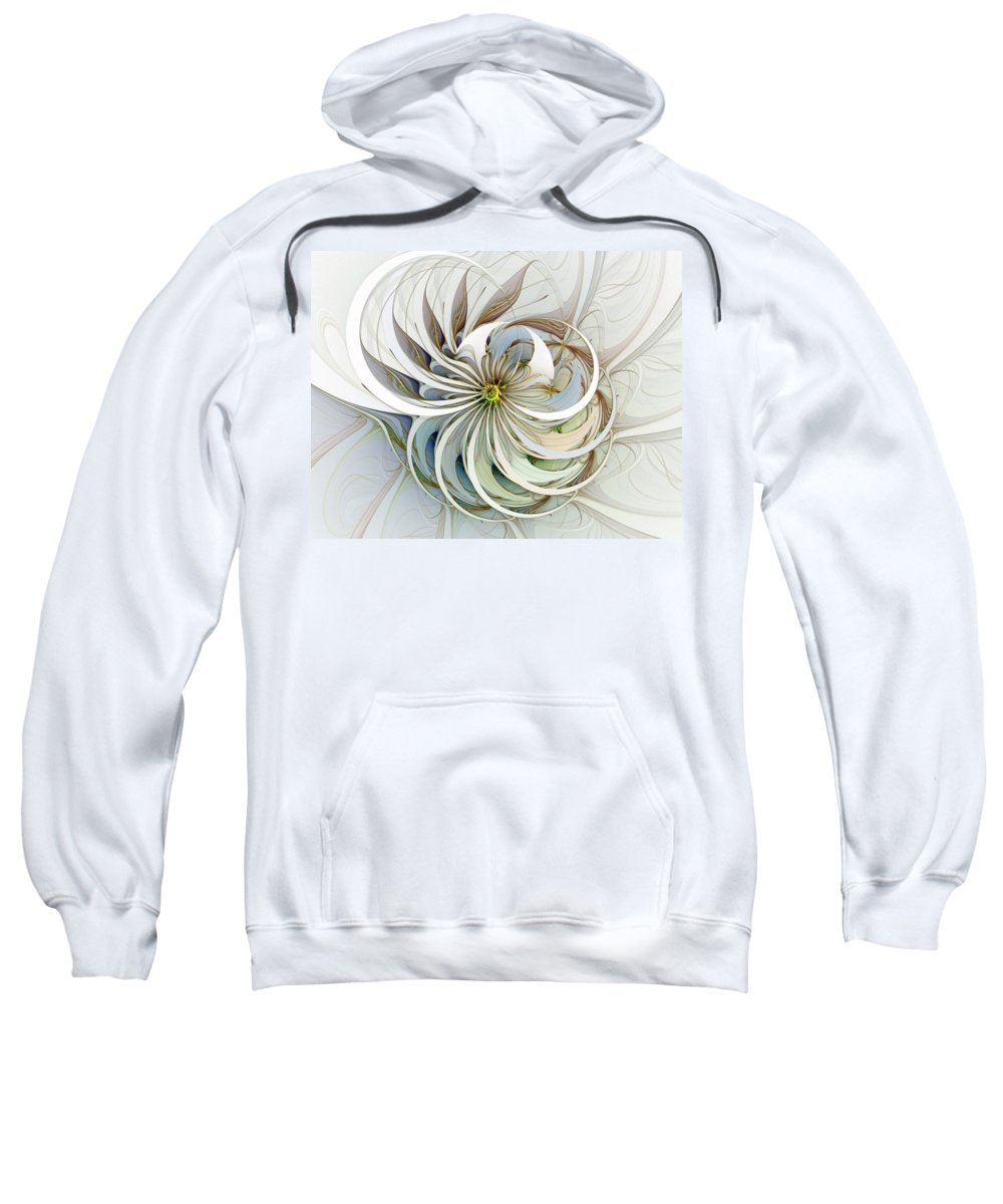 Digital Art Sweatshirt featuring the digital art Swirling Petals by Amanda Moore