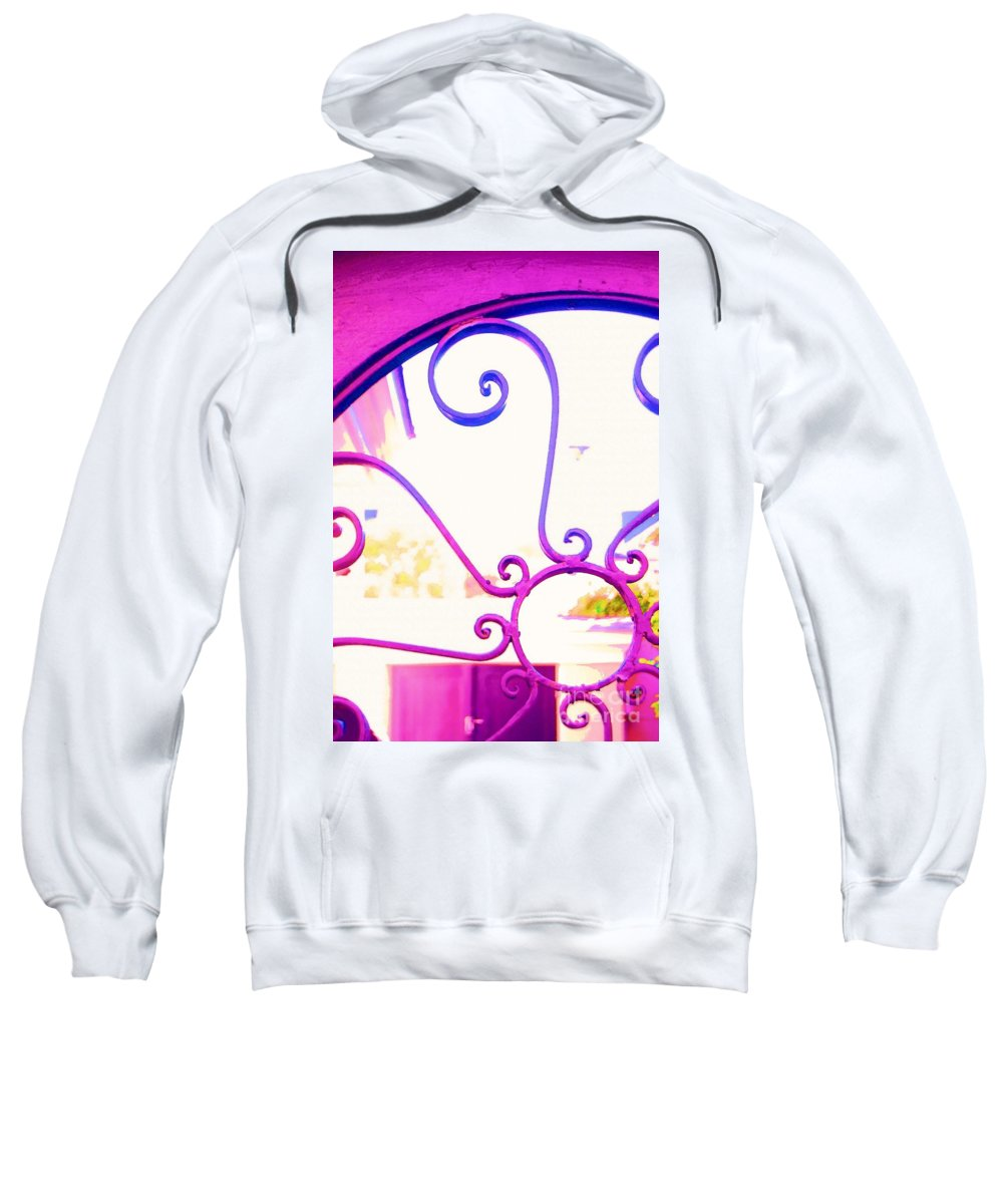 Gate Sweatshirt featuring the photograph Swirls On A Gate by Donna Bentley