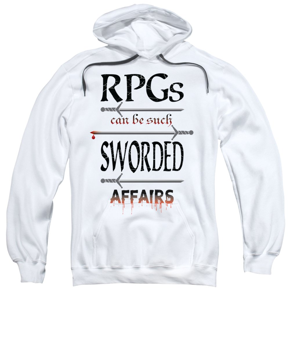 Dnd Sweatshirt featuring the digital art Sworded Affairs Light by Jon Munson II