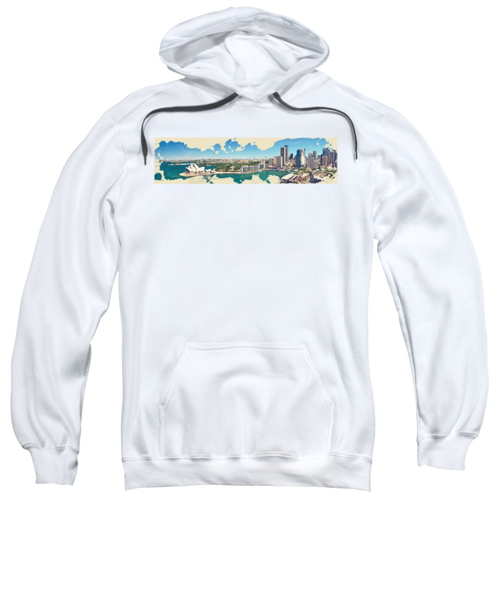 Sydney Sweatshirt featuring the digital art Sydney Serenade by Don Kuing