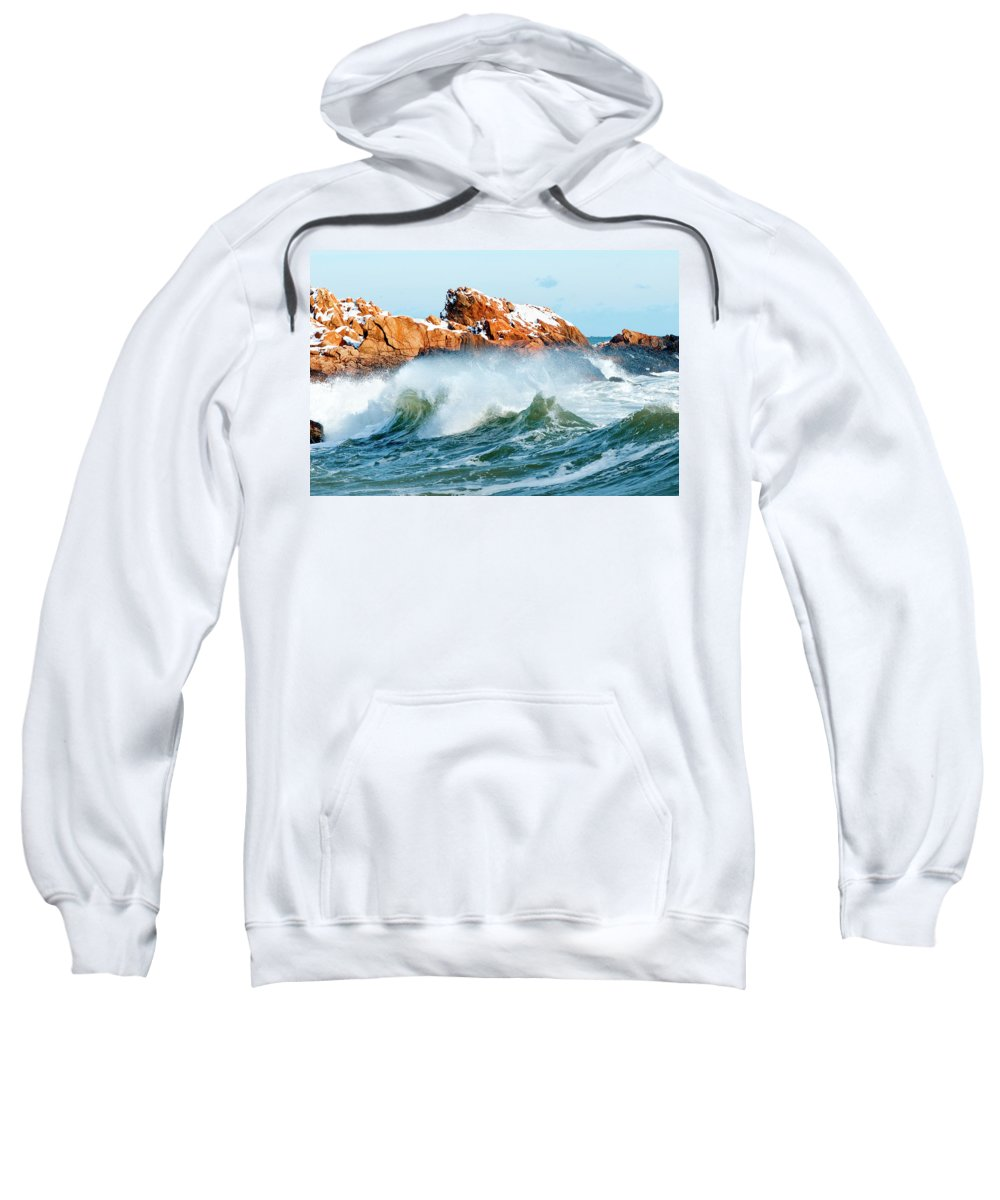 Gloucester Sweatshirt featuring the photograph Symmetry by Greg Fortier