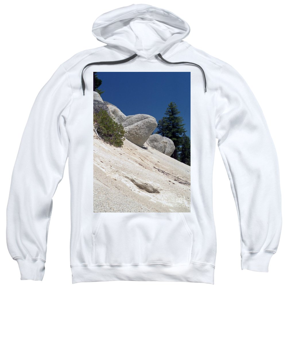 Abstract Sweatshirt featuring the photograph Tahoe Rocks by Richard Rizzo