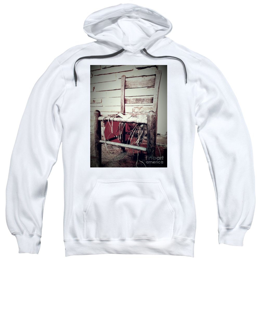 Chair Sweatshirt featuring the photograph Take A Seat by Chuck Piel