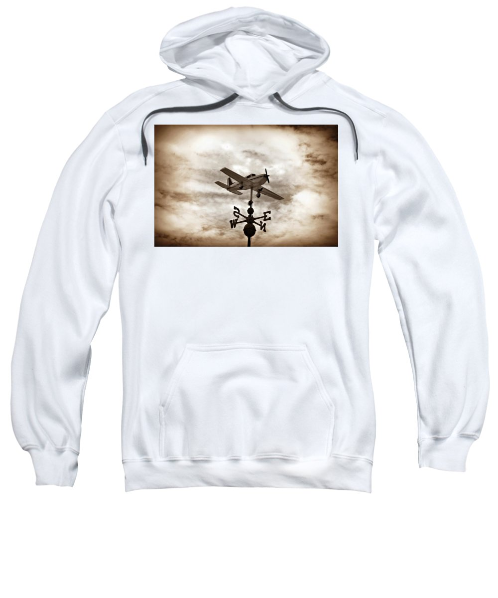 Airplane Sweatshirt featuring the photograph Take Me To The Pilot by Bill Cannon