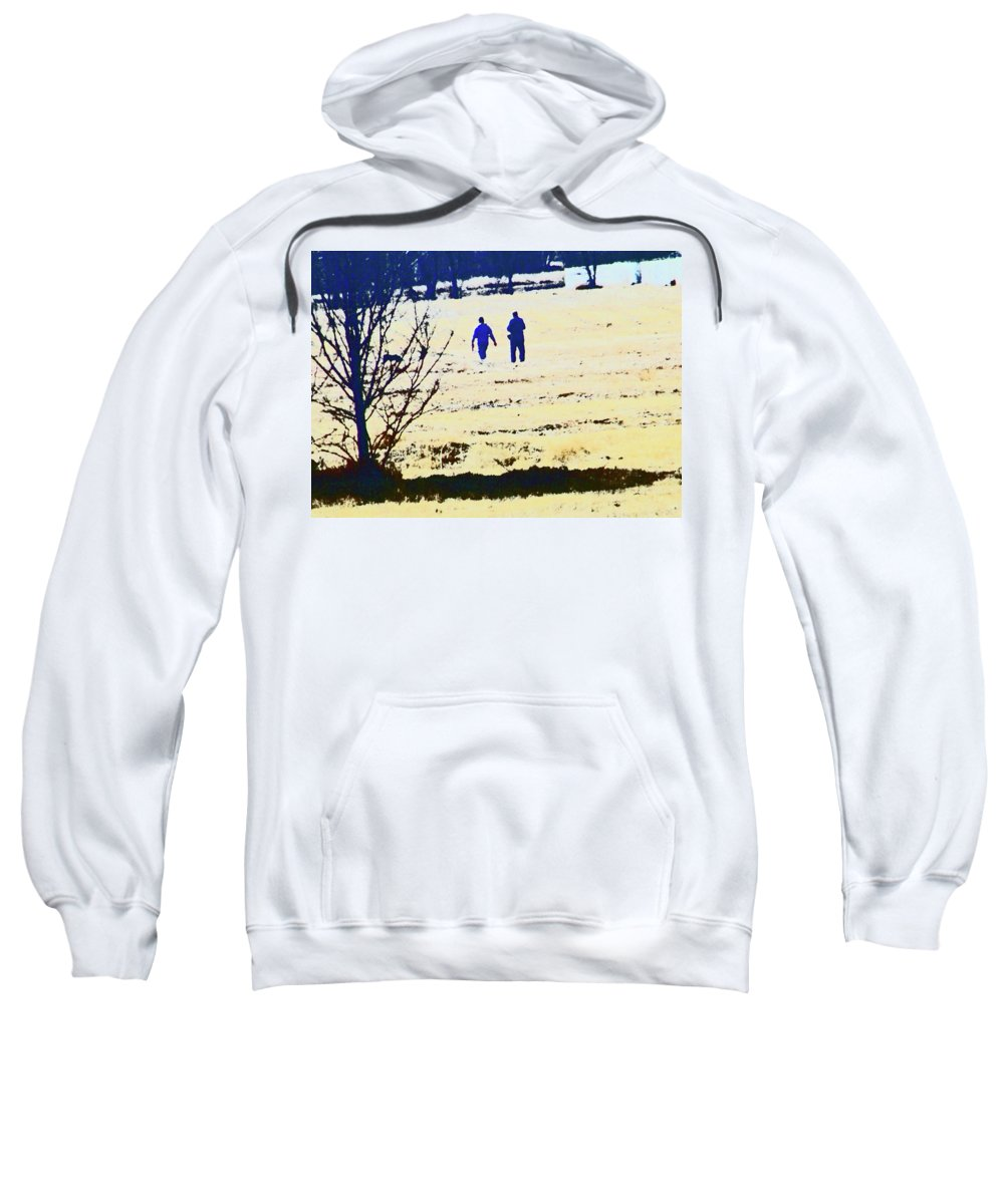 Abstract Sweatshirt featuring the photograph Taking A Walk by Lenore Senior