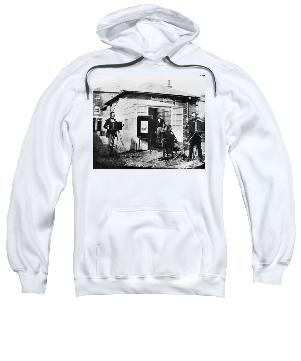 1845 Sweatshirt featuring the photograph Talbotype, 1845 by Granger