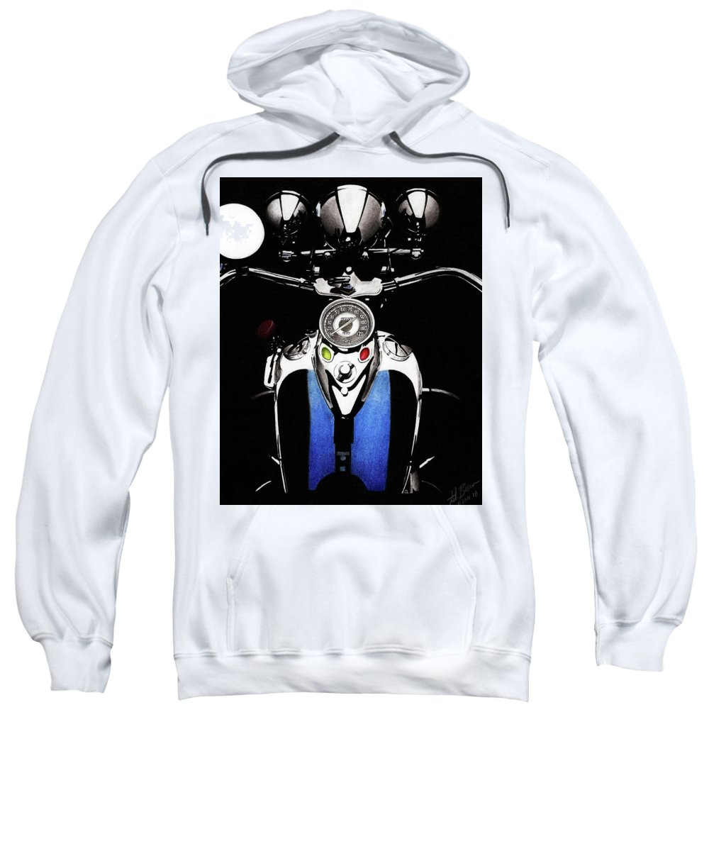 1941 Sweatshirt featuring the mixed media Tanked by Lyle Brown