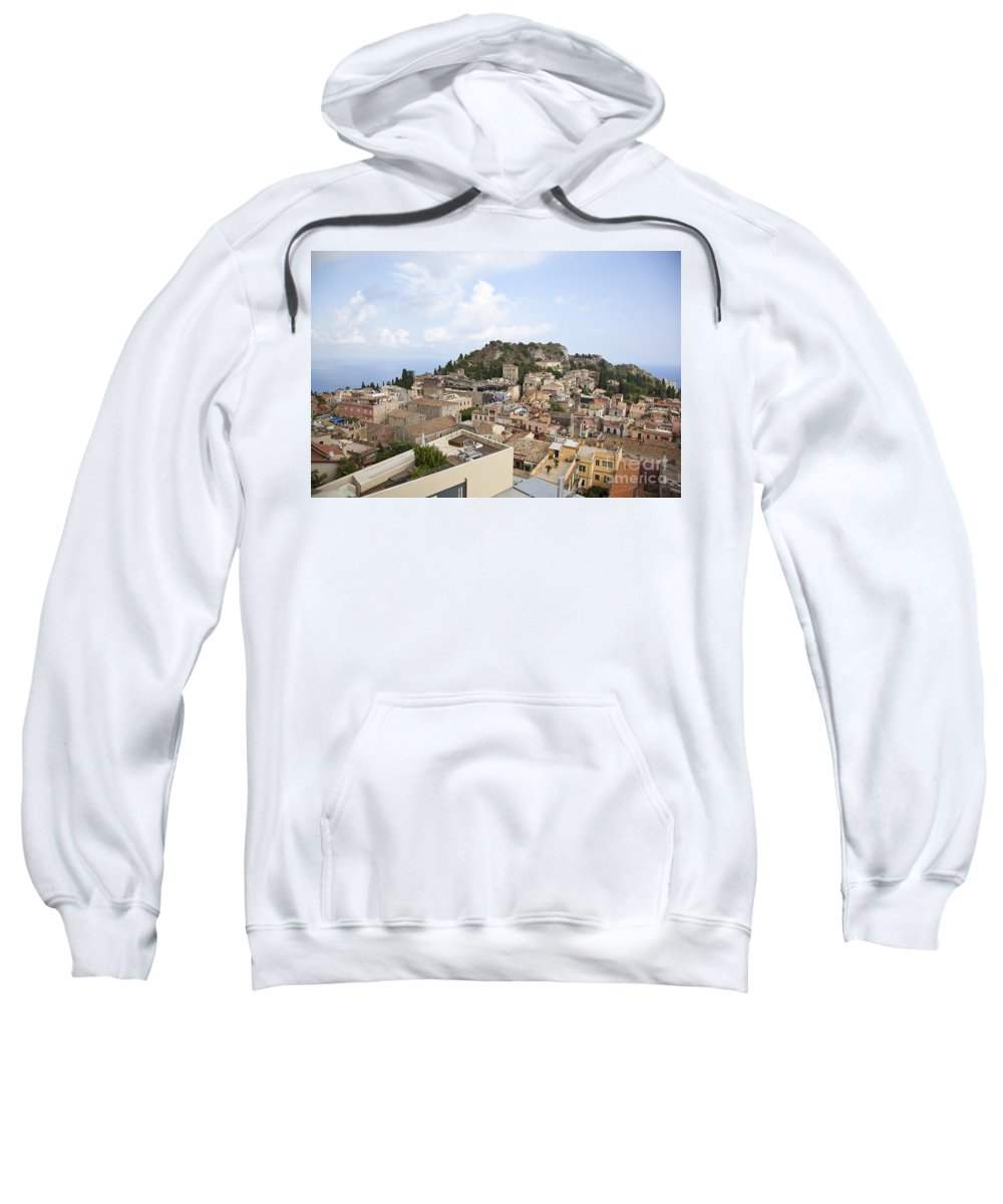 Sweatshirt featuring the photograph Taormina View II by Madeline Ellis