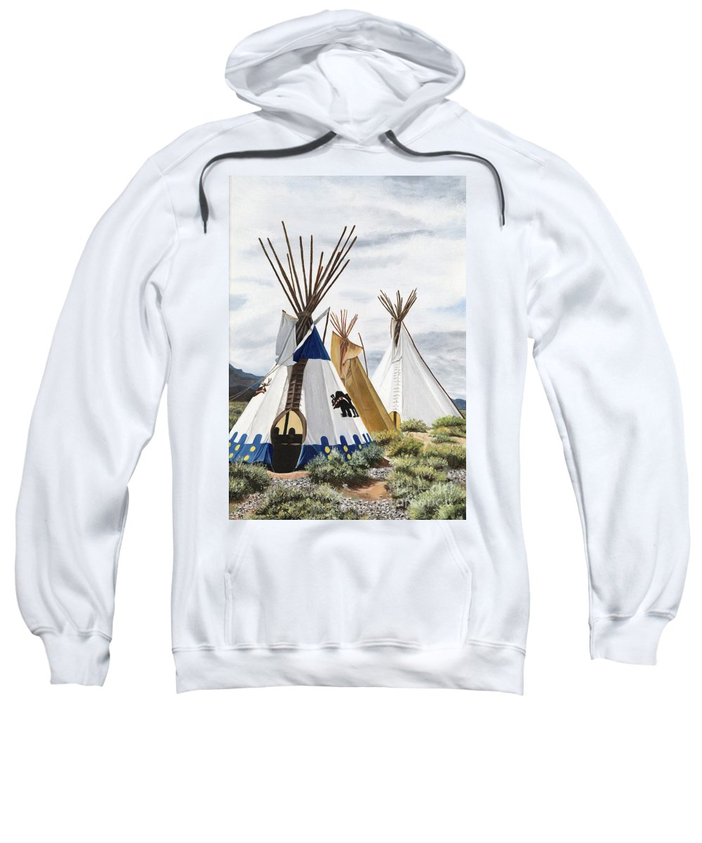 Art Sweatshirt featuring the painting Taos by Mary Rogers