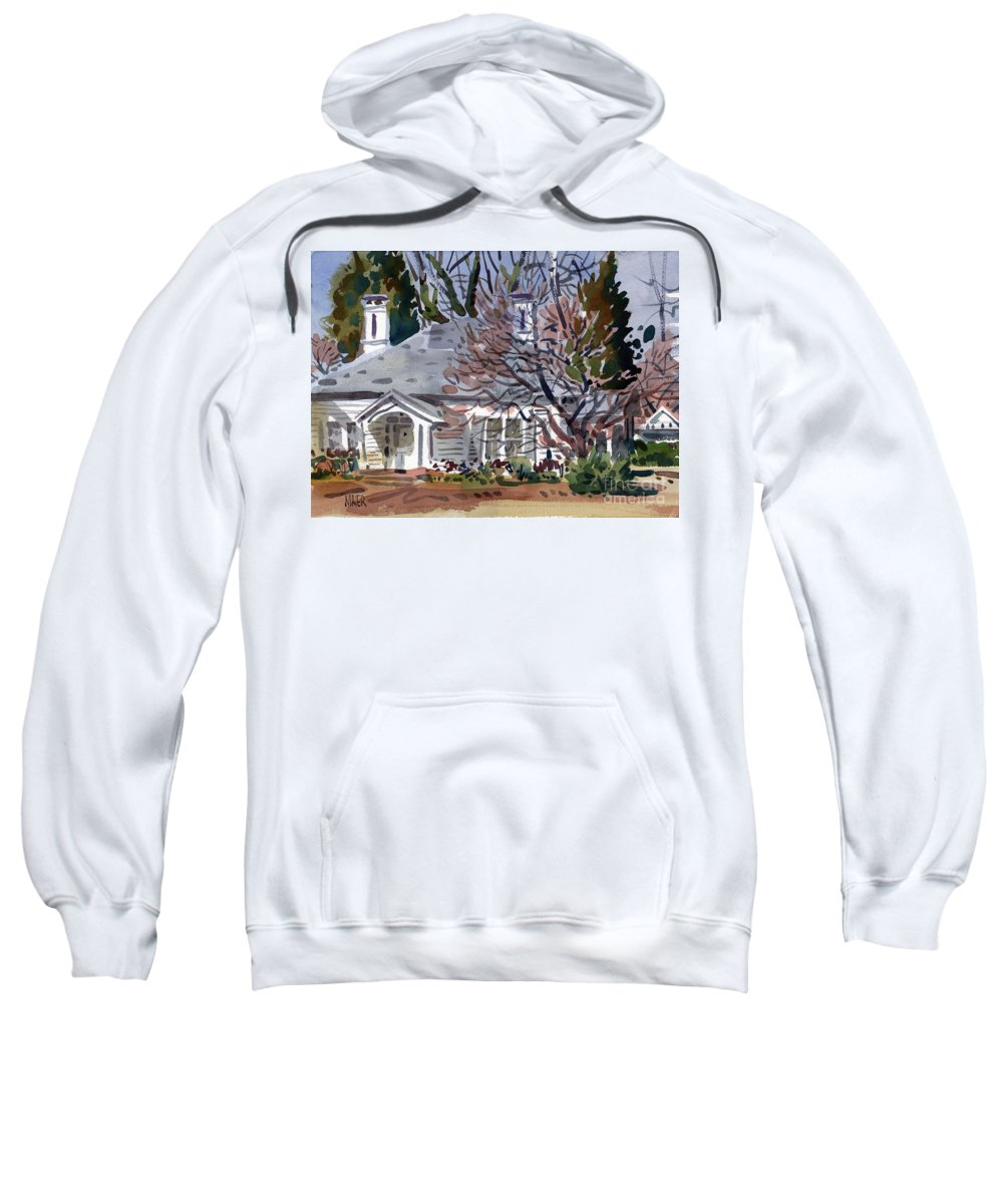 Tapp House Sweatshirt featuring the painting Tapp House by Donald Maier