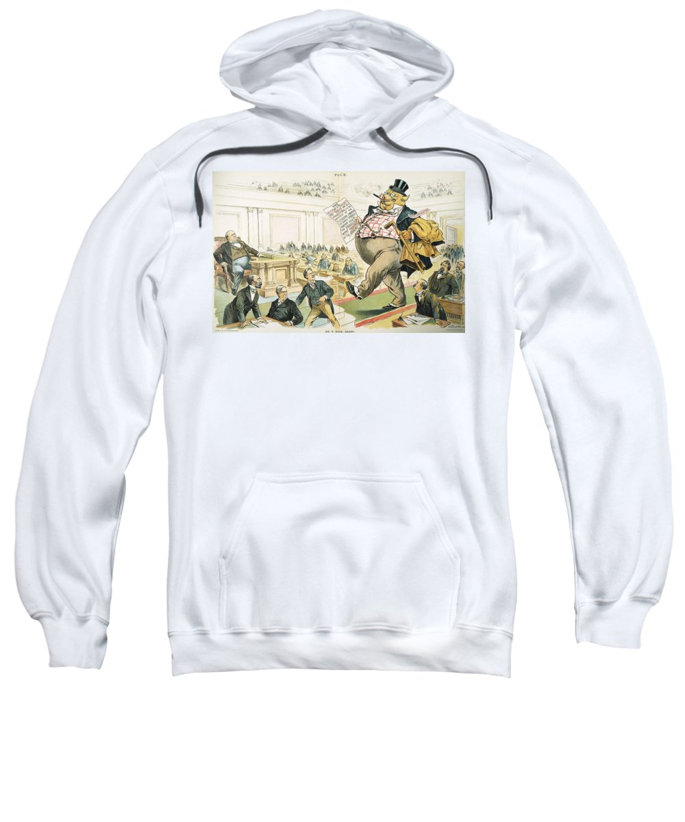 1897 Sweatshirt featuring the photograph Tariff Lobbyist, 1897 by Granger