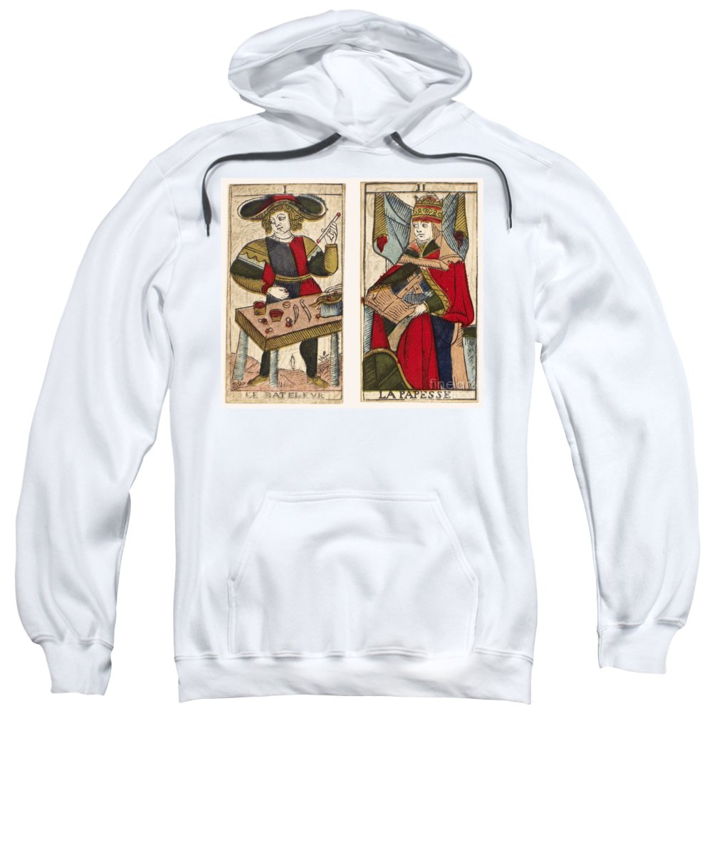 18th Century Sweatshirt featuring the photograph Tarot Cards, C1700 by Granger