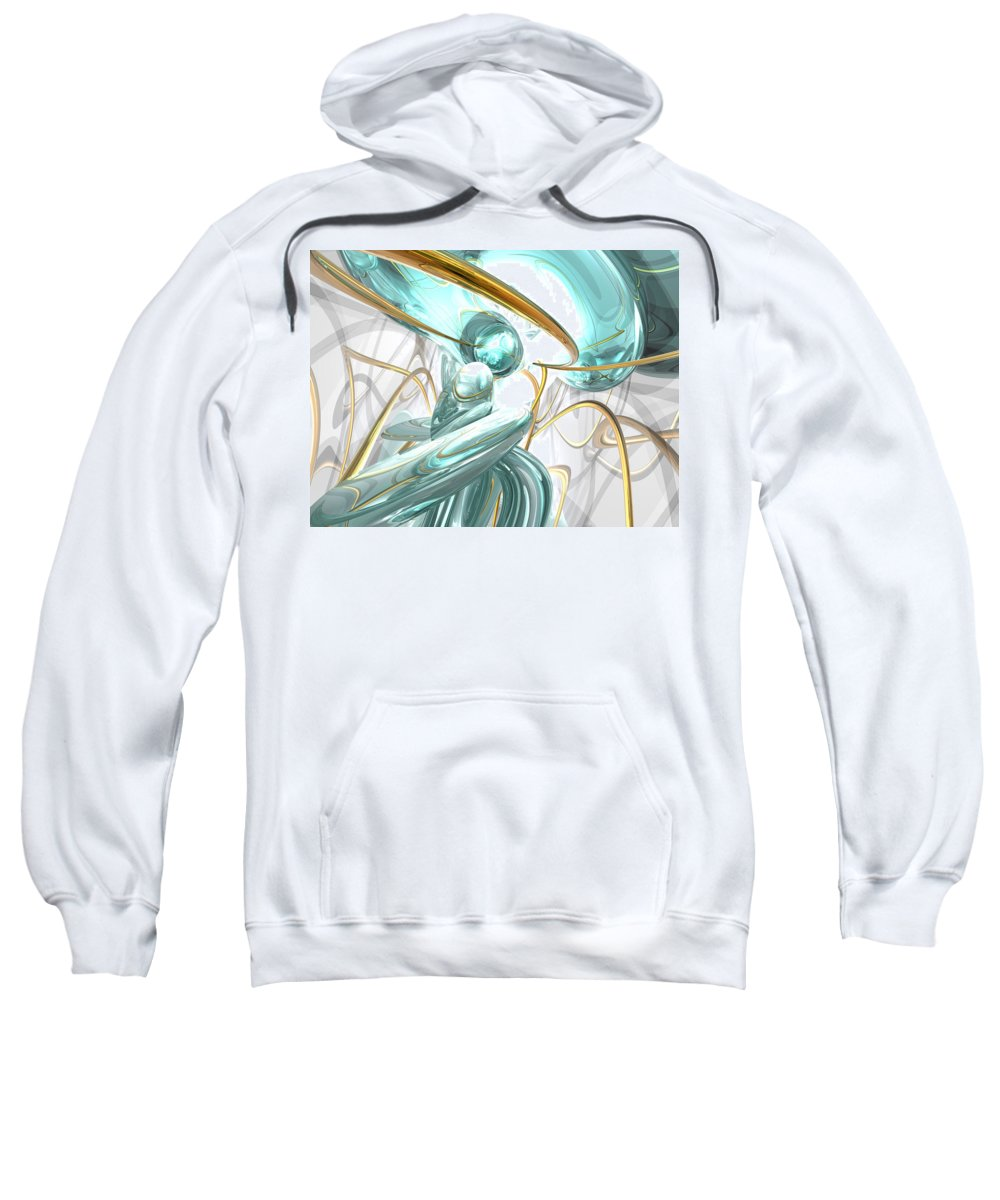 3d Sweatshirt featuring the digital art Teary Dreams Abstract by Alexander Butler