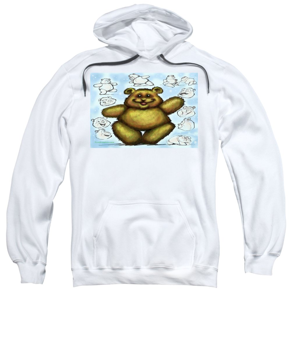 Bear Sweatshirt featuring the painting Teddy Bear by Kevin Middleton