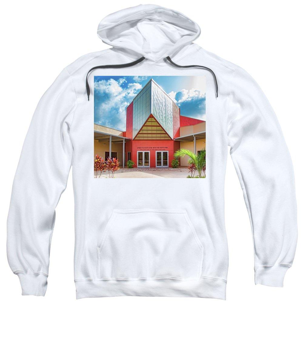 Temple Sinai Sweatshirt featuring the photograph Temple Sinai by Richard Goldman