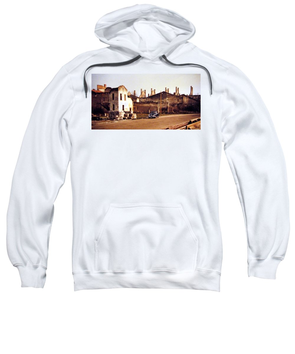 1955 Sweatshirt featuring the photograph Ten Years After The Bombs 1955 by Will Borden