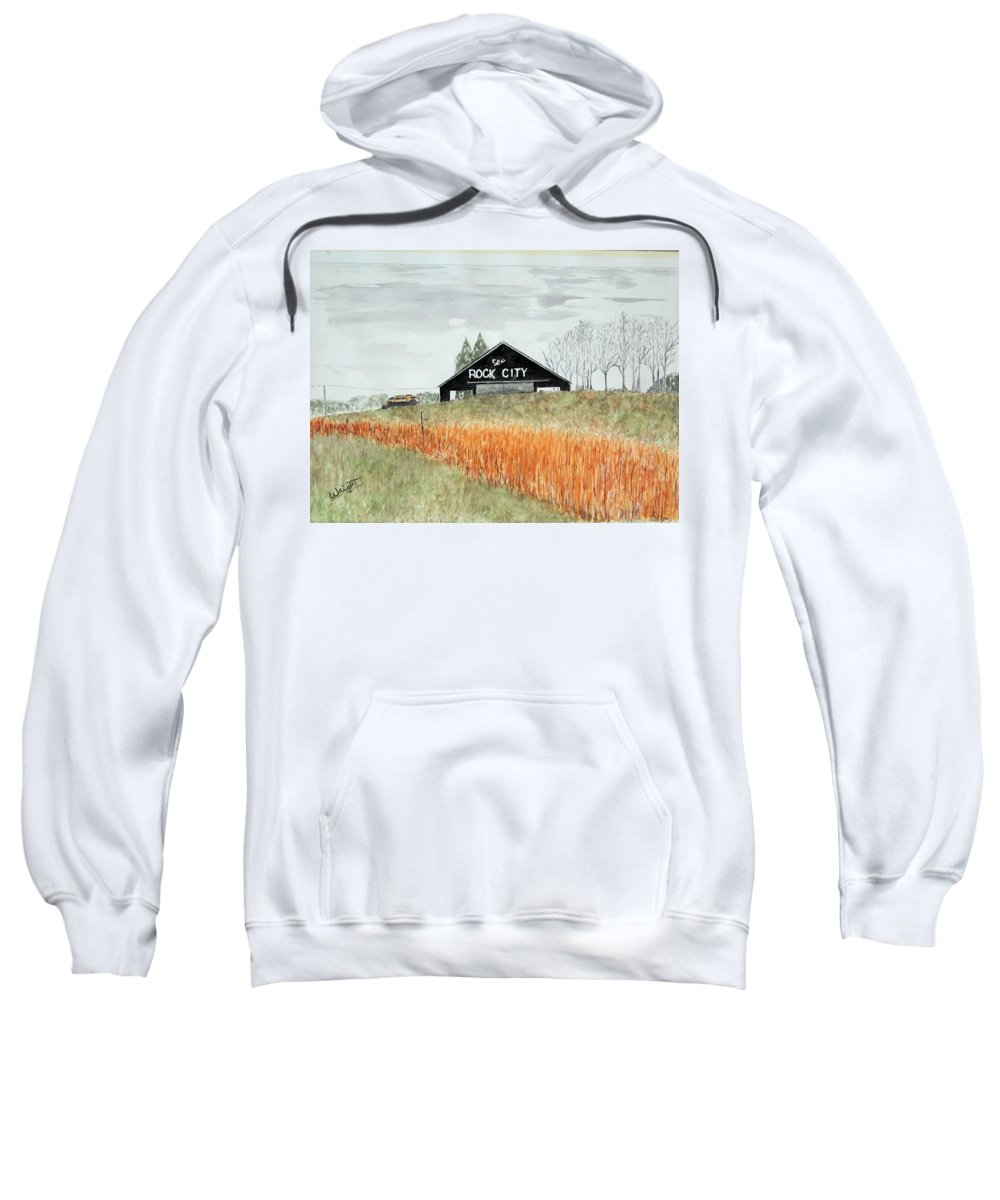 Barns Sweatshirt featuring the painting Tennessee Destination by Larry Wright