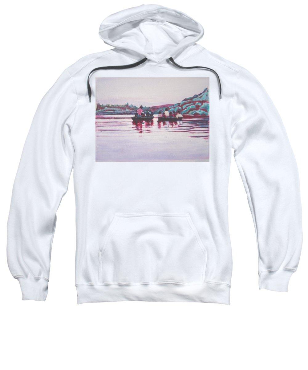 Teppa Sweatshirt featuring the painting Teppa Ride by Usha Shantharam