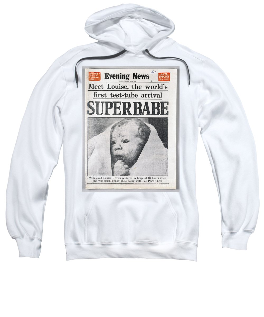 1978 Sweatshirt featuring the photograph Test-tube Baby, 1978 by Granger