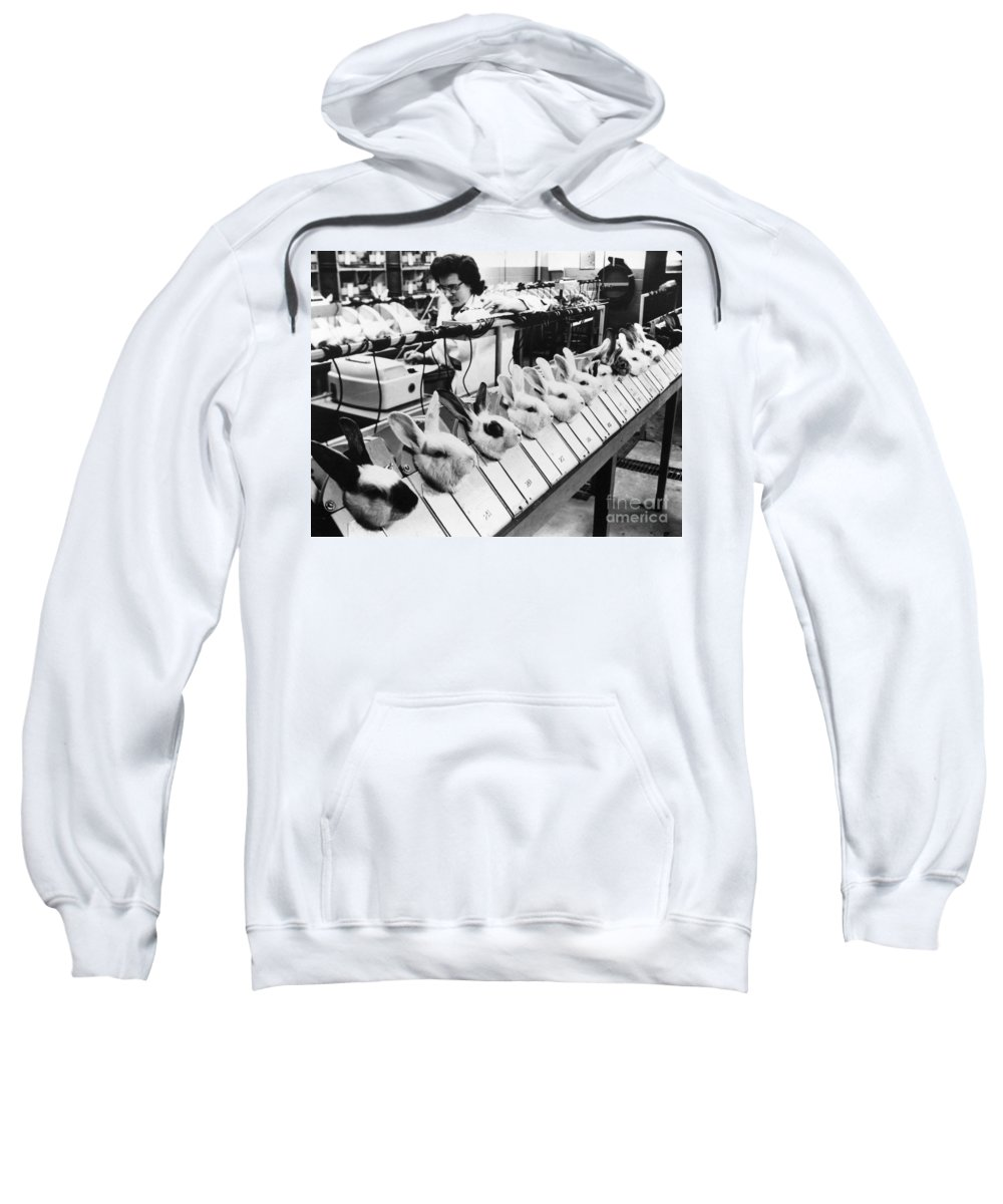 1957 Sweatshirt featuring the photograph Tests On Animals, 1957 by Granger
