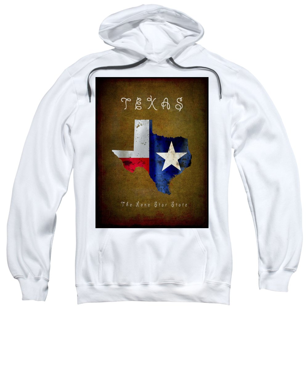 Texas Sweatshirt featuring the digital art Texas ... The Lone Star State by Daniel Hagerman