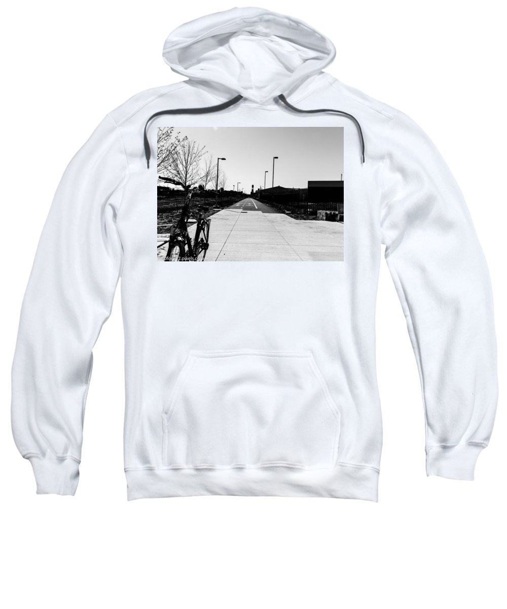 Dequindre Cut Detroit Michigan Sweatshirt featuring the photograph Tha Cut by Terry Cross