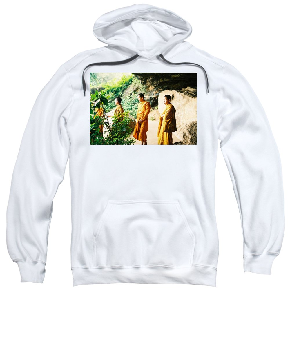 Monks Sweatshirt featuring the photograph Thai Monks by Mary Rogers