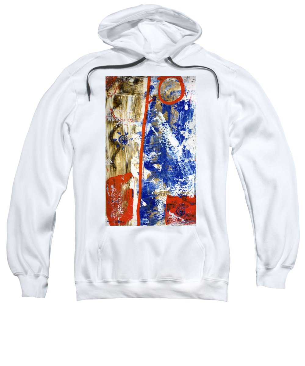 Abstract Sweatshirt featuring the painting The 4th by Wayne Potrafka