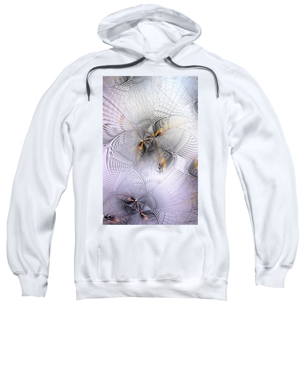 Abstract Sweatshirt featuring the digital art The Age Of Intellectual Ascension by Casey Kotas