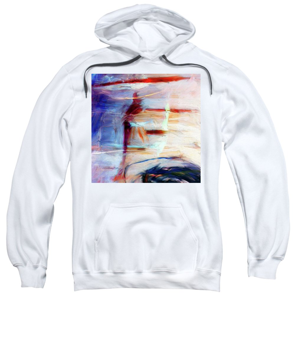 Abstract Sweatshirt featuring the painting The Auberge by Dominic Piperata