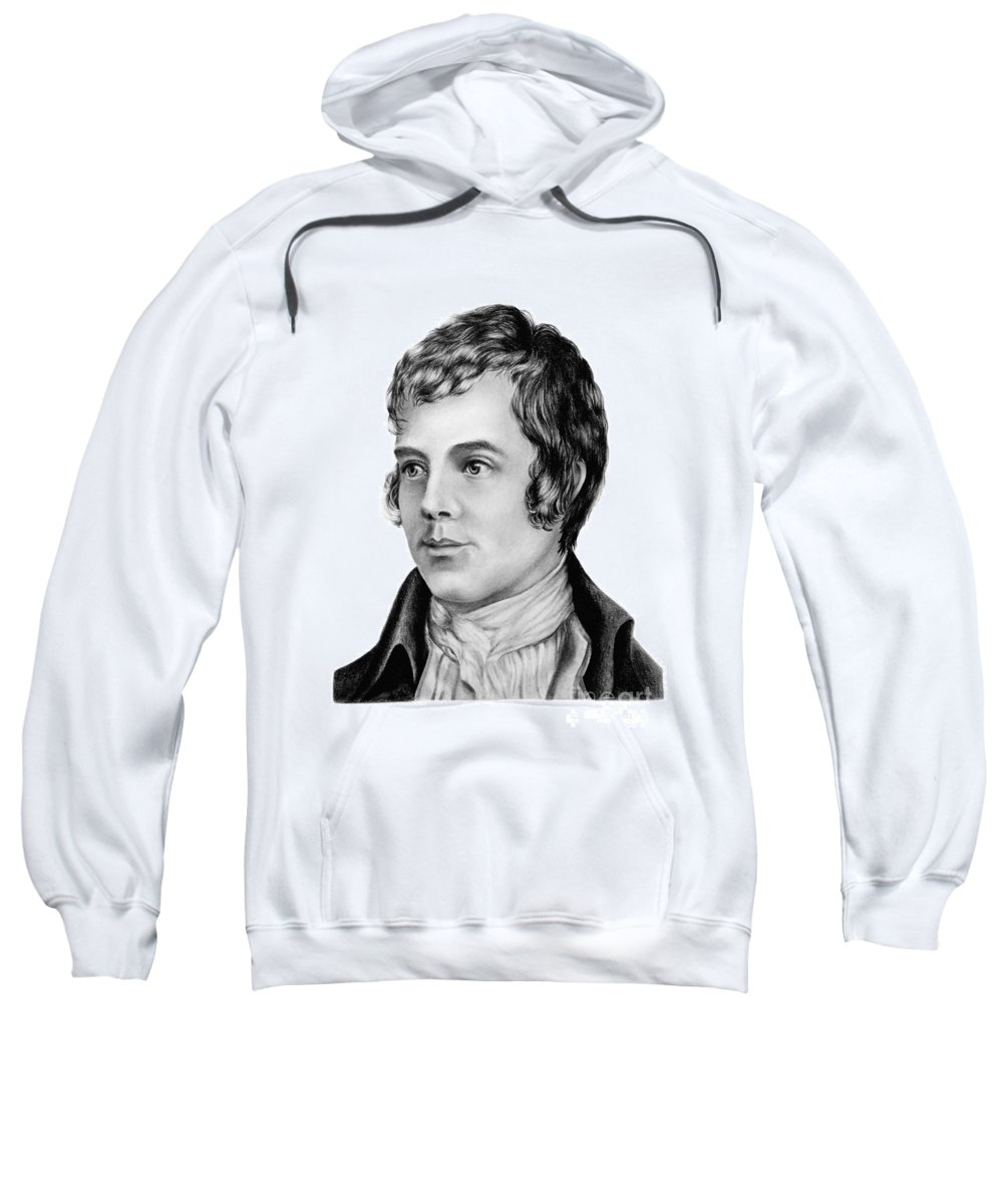 Robert Sweatshirt featuring the drawing The Bard by Shadedfaces