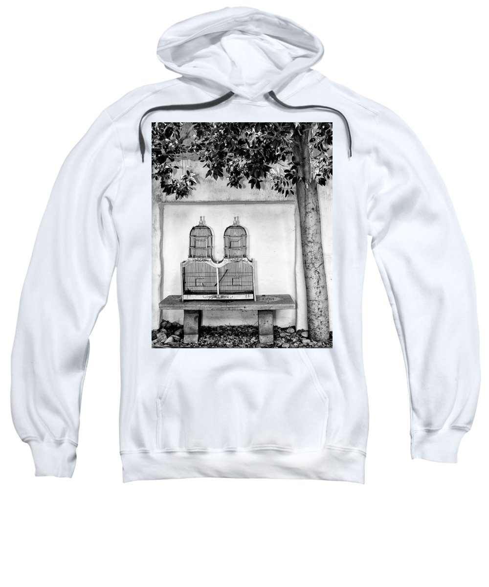 The Bird Cage Sweatshirt featuring the photograph The Bird Cage Palm Springs by William Dey
