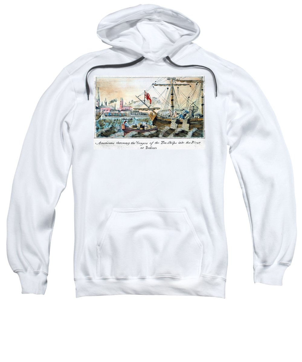 1773 Sweatshirt featuring the photograph The Boston Tea Party, 1773 by Granger