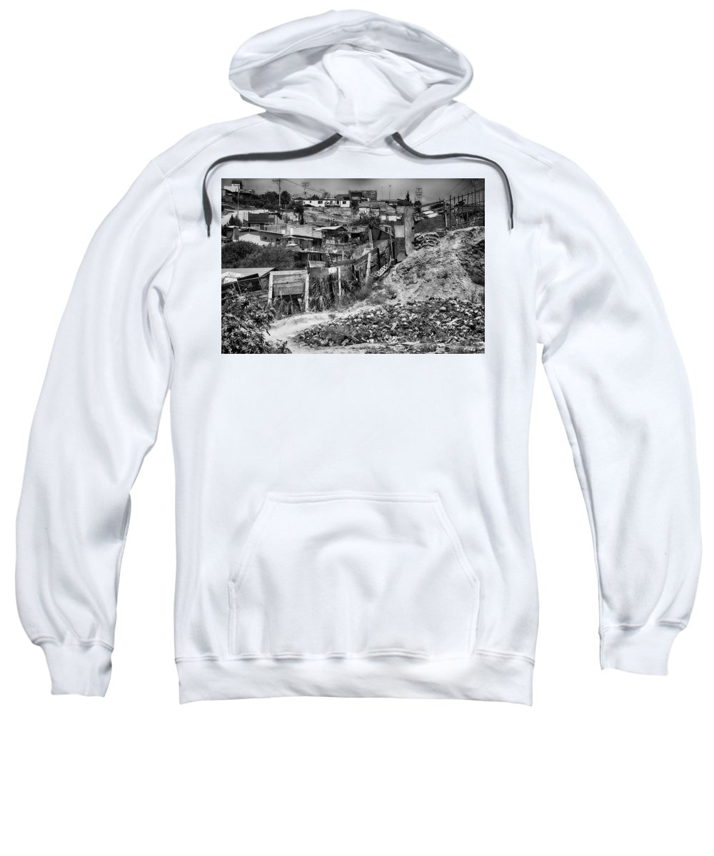 Ladrillero Sweatshirt featuring the photograph The Brickmakers Backyard by Hugh Smith
