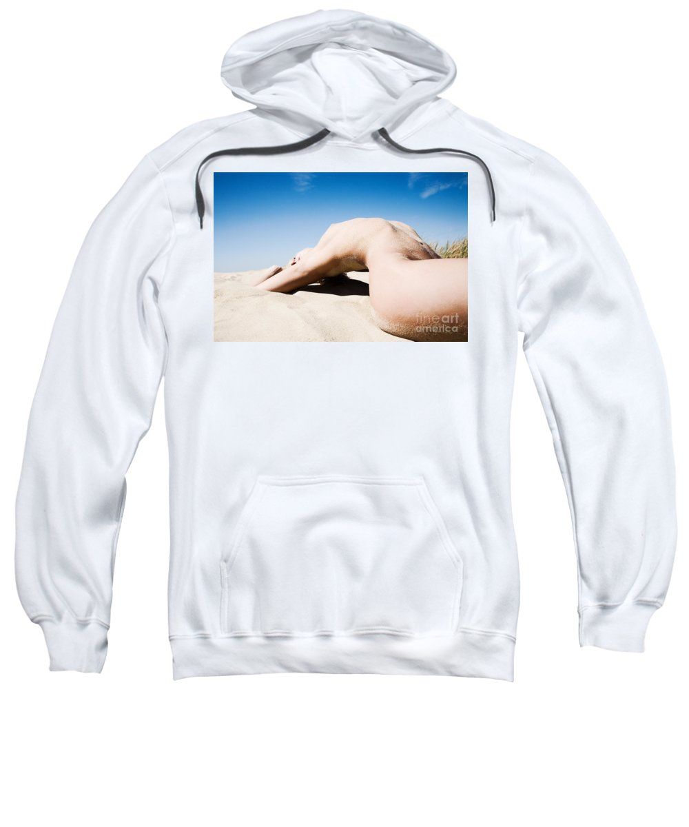 Sensual Sweatshirt featuring the photograph The Bridge by Olivier De Rycke
