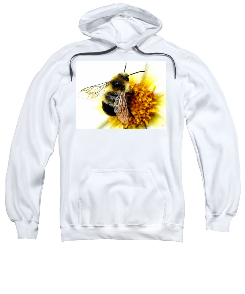 Honeybee Sweatshirt featuring the photograph The Buzz by Will Borden