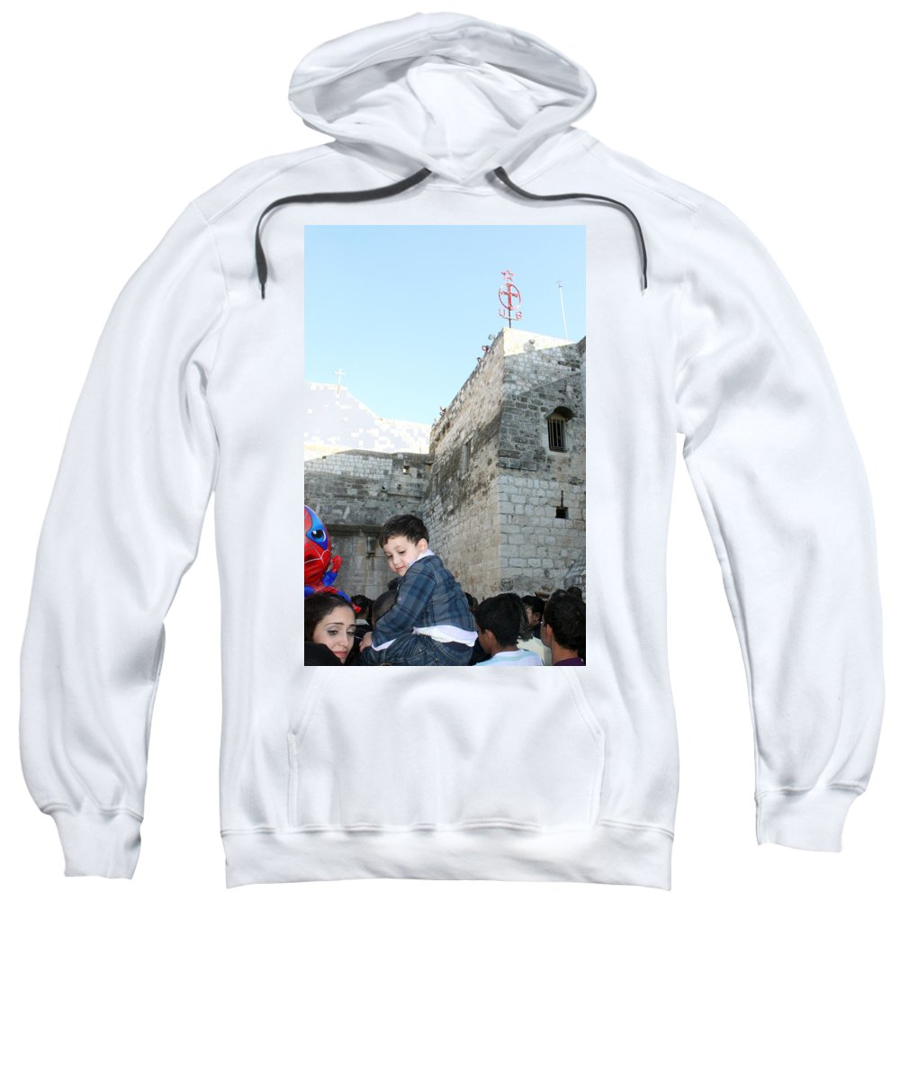 Child Sweatshirt featuring the photograph The Child Of Bethlehem 2010 by Munir Alawi