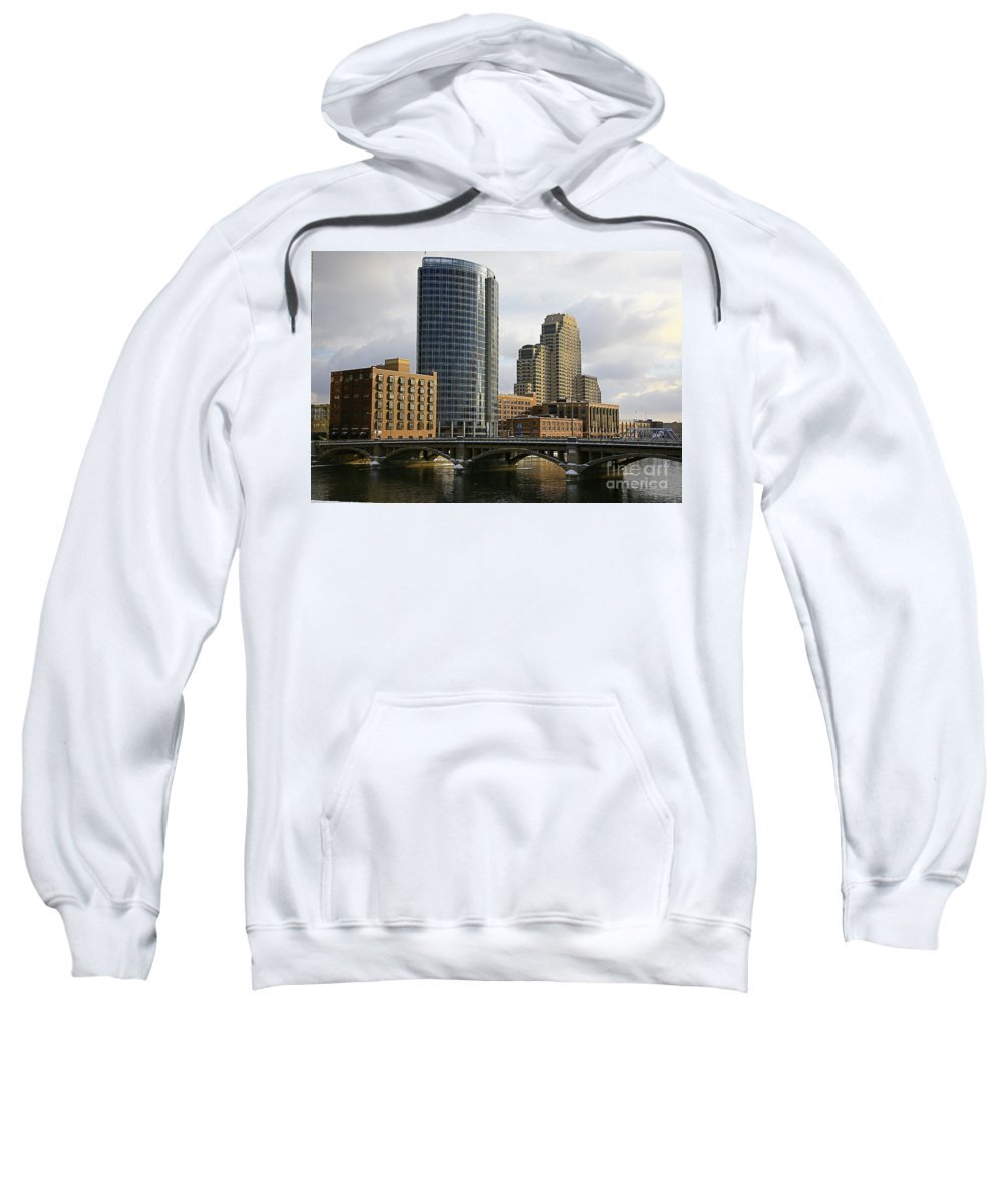 City Sweatshirt featuring the photograph The City Grand Rapids Mi-2 by Robert Pearson