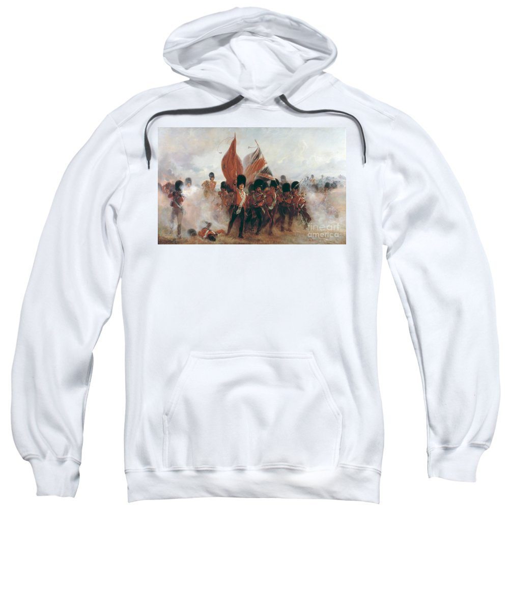 War Sweatshirt featuring the painting The Colours by Elizabeth Southerden Thompson